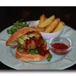 Homemade Gourmet Burgers & Crispy Potato Wedges