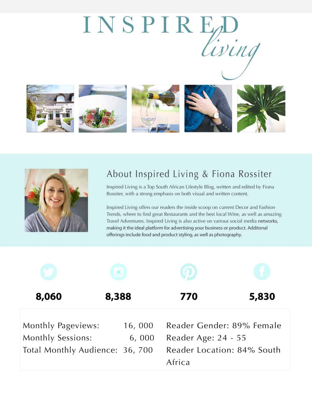 Inspired Living Media Kit and rate card