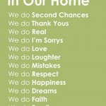 In Our Home – Words to Live By!