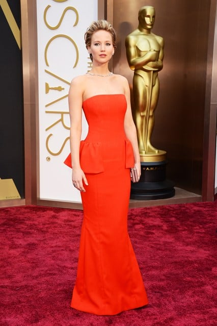 jennifer-lawrence-oscars 2014 Red Dior Gown