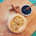 Pear and Amarula Custard Tarts