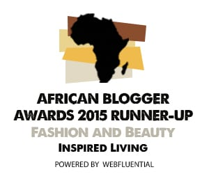 African Blogger Awards 2015 Fashion and Beauty Inspired Living SA