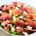 Delicious Sweet Potato Salad with Hartlief Salami