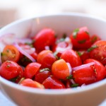 Simple Tomato Salad with Red Onion & Mint