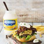 Rocking Hellmann's Chorizo & Maple Glazed Bacon Burger