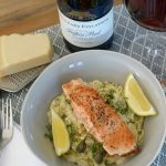 Pan-fried Salmon with Creamy Caper Pasta
