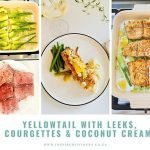 Easy Healthy Yellowtail Recipe with Leeks and Courgettes